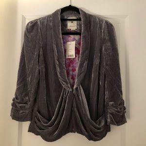Elevenses NWT Velvet Silver-Grey Jacket